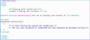 "Figure 5: Our ""quick and dirty"" HTML script evaluator"