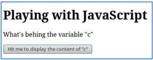 Figure 6: HTML page used to decipher the JavaScript
