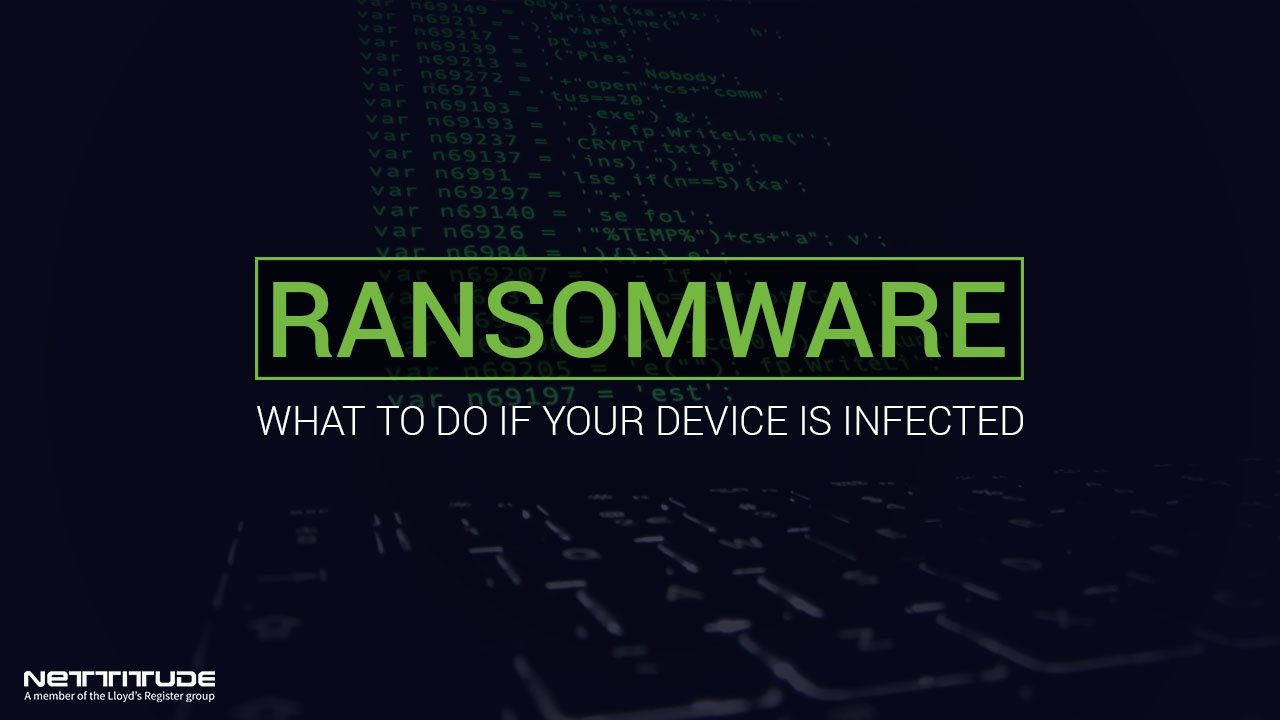 Ransomware - What to do if your device is infected